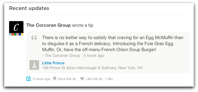 A Corcoran tip on location-based social network foursquare