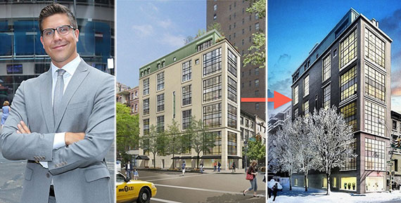 From left: Fredrik Eklund and renderings of 61 Fifth Avenue