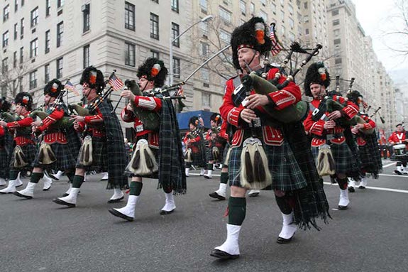 St. Patrick's Day Parade along Manhattan's tony Fifth Avenue