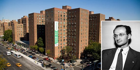 Stuyvesant Town and Lee Lorch (inset)