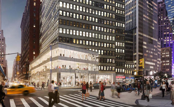 A rendering of the retail space at 1407 Broadway