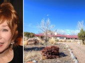 From left, Shirley MacLaine, her Plaza Blanca Ranch in Abiquiu, NM