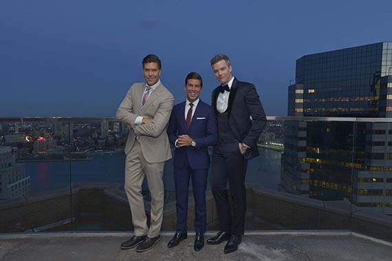 "The three ""MDLNY"" brokers at the Andaz Wall Street event (Credit: Bravo Media/Eugene Gologursky)"
