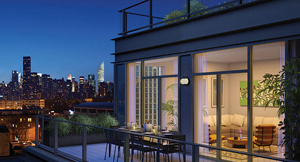 Rendering of a luxury condo in Queens