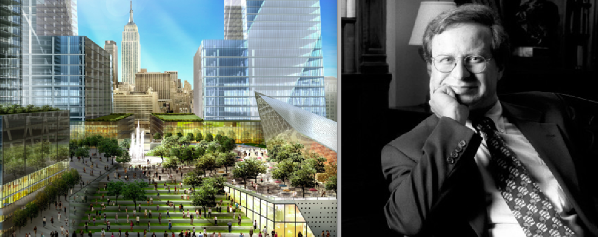 From left: Hudson Yards rendering and head of NYU's Center for Urban Science Steve Koonin