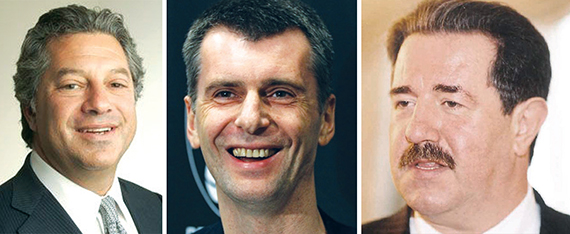 From left: Marc Holliday, Mikhail Prokhorov and Alexander Rovt