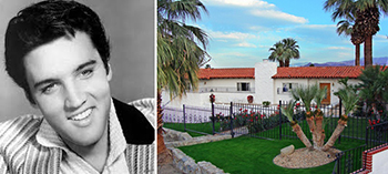 Elvis Presley and his former Palm Springs, Calif. rental