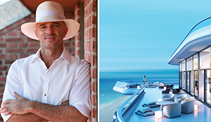 Alan Faena and a Faena House rendering