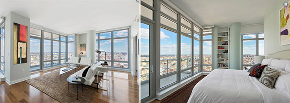 Interiors of penthouse at 149 Kent Avenue