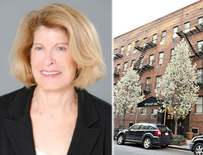 From left: Nancy Rapp and exterior of 435 East 85th Street