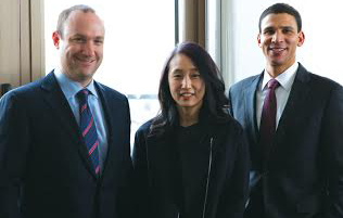 Urban Compass executives Gordon Golub, Sofia Song and Robert Reffkin