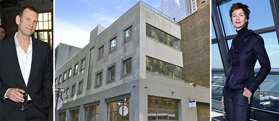 From left: Stephen Werther, 11 Hubert Street (Credit: Corcoran Group) and Winka Dubbeldam