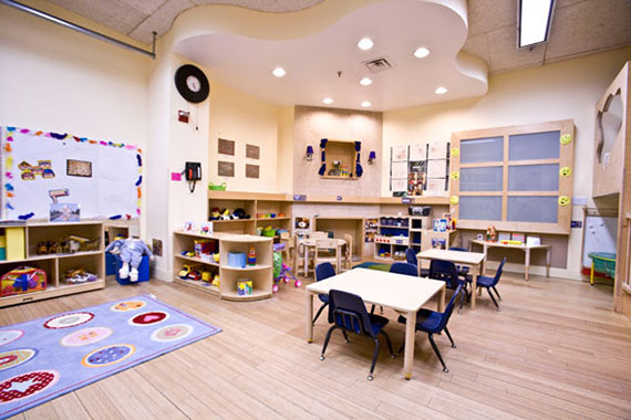 Classroom inside Preschool of the Arts at 121 West 19th Street