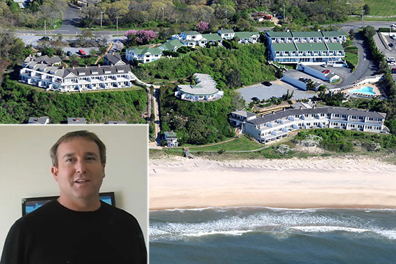 Panoramic View Resort & Residences in Montauk and Adam Manson (inset)