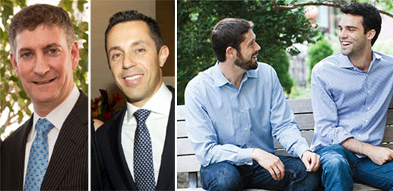 From left: Silverstein Properties Martin Burger and Tal Kerret and Fundrise's Ben and Daniel Miller