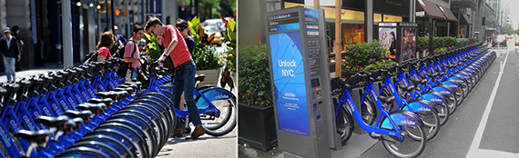 Citi Bike docking stations