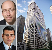 From top left: Neil Goldmacher, Mark Weiss and 345 Park Avenue