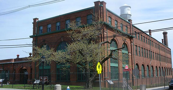 Thomas Edison battery building at Main Street and Lakeside Avenue in West Orange, N.J.