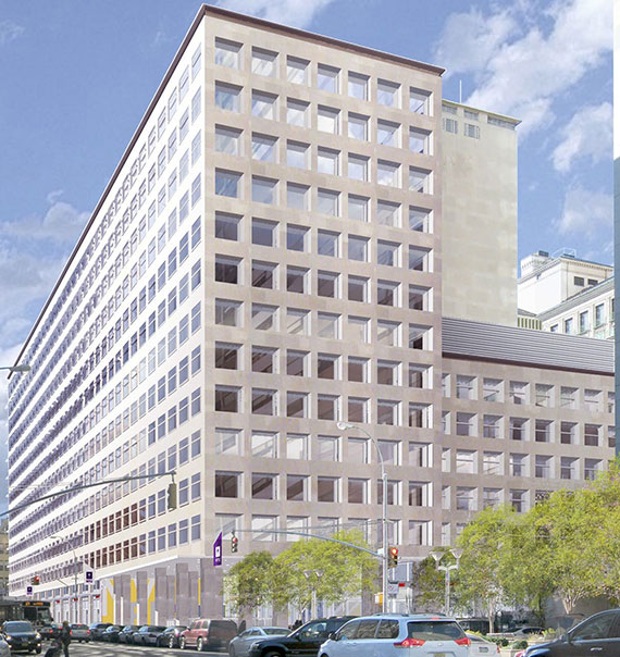Rendering of 370 Jay Street (Credit: Mitchell Giurgola Architects)