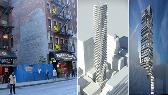 92 Fulton Street and prior renderings