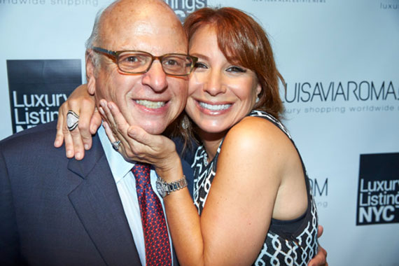 From left: Douglas Elliman Chairman Howard Lorber and Jill Zarin during the the Luxury Listings NYC Summer Issue Soirée at Beautique in NYC. (Benno Klandt /  June 10, 2014)