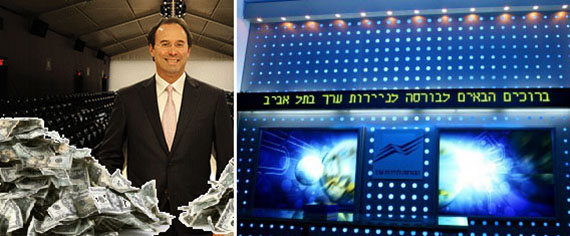 From left: Gary Barnett and the Tel Aviv Stock Exchange