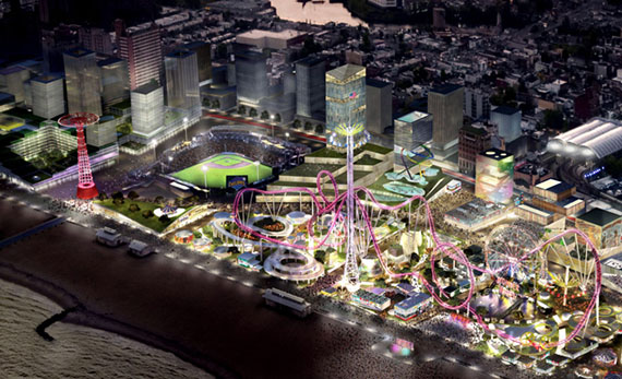 Rendering of the proposed Coney Island development
