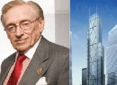 From left: Larry Silverstein and a rendering of 3 World Trade Center