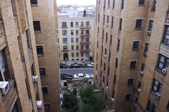 Apartment buildings in the Bronx