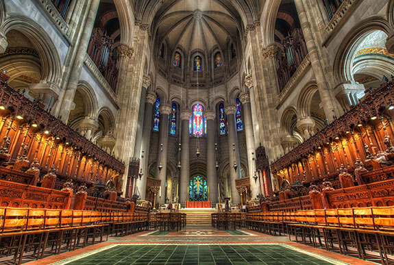 Inside the Cathedral of Saint John the Divine at 1047 Amsterdam Avenue