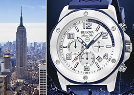 From left: Empire State Building and Bulova watch