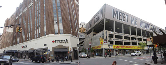 From left: Macy's Brooklyn and 11-30 Hoyt Street