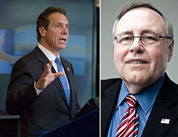 From left: Andrew Cuomo and Steven Spinola