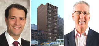 From left: Kasra Sanandaji, a rendering of 253 3rd Avenue and Kevin Maloney