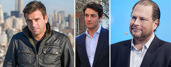 From left: Ori Allon, Joshua Kushner and Marc Benioff