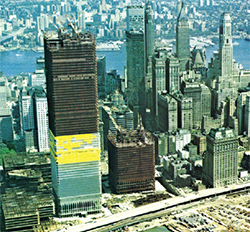 The World Trade Center under construction