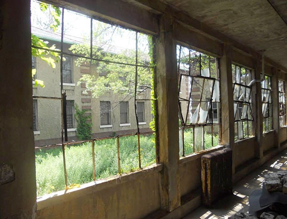 A forlorn corner of Ellis Island's abandoned south side