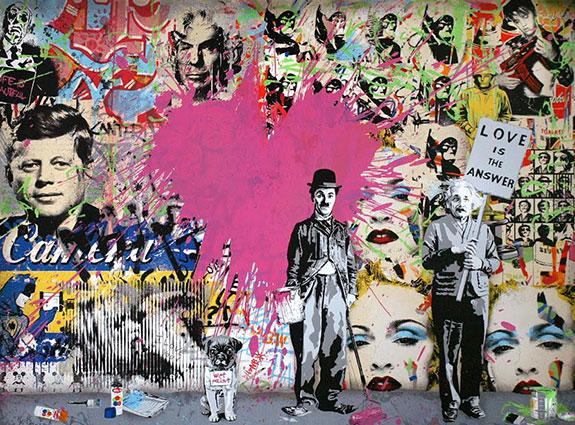 "Mr. Brainwash's ""Juxtapose"""