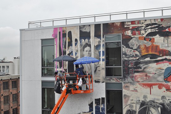 Mr. Brainwash mural at 250N10 in Williamsburg