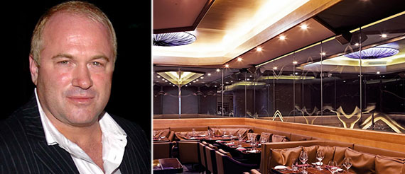 Nello Balan and the interior of the restaurant at 14 East 58th Street