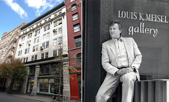 From left: 131-135 Prince Street and Louis Meisel in 1990