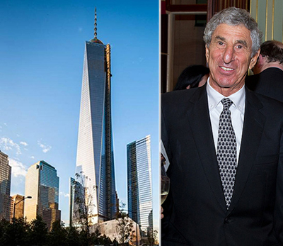 From left: One World Trade Center and Servcorp founder Alf Moufarrige