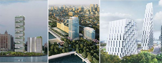 Caption: Brooklyn Bridge Park Pier 6 proposal renderings