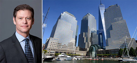 From left: Ric Clark and Brookfield Place at 250 Vesey Street