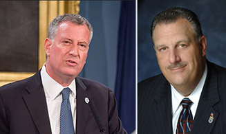 From left: Bill de Blasio and Gary Lbarbera
