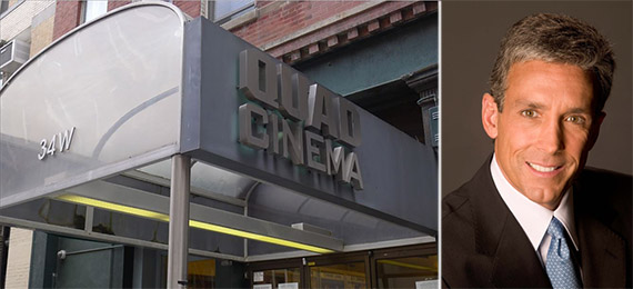 From left: Quad Cinema at 34 West 13th Street and Charles Cohen