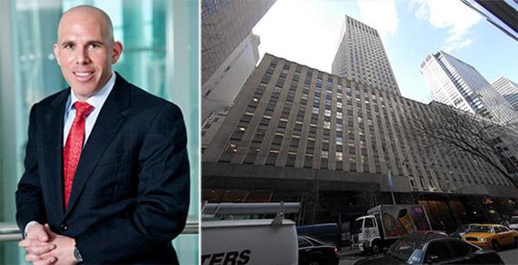 From left: Scott Rechler and 75 Rockefeller Plaza