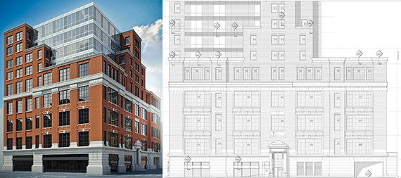 Rendering and copy of the current plans for 2269 First Avenue