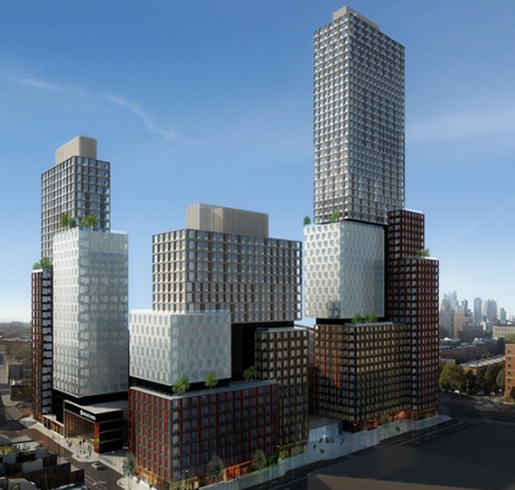 Renderings for the B2 tower at Pacific Park, formerly known as Atlantic Yards