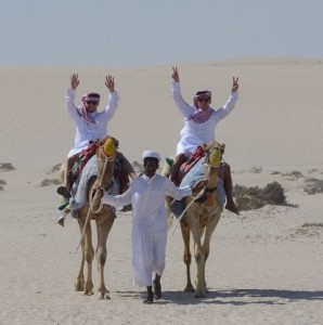 The Alexanders on a recent trip to Qatar. (Photo: Business Insider)